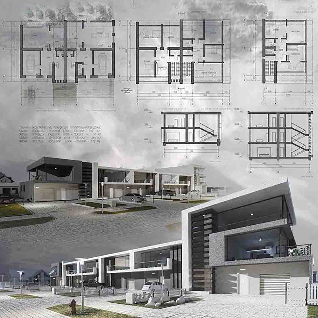 دانلود پروژه های طرح معماری